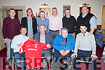 European Cup winner Colin Barrett and former Forest player Brendan Moloney (Killarney) with Kerry members of the Munster Nottingham Forest supporters club at their 10th anniversary social at the Manor Inn Killorglin on Saturday night Gearoid Lynch, Weeshie Fogarty, Neilie Mangan, and Brendan Moloney. Back row: Paul Lynch, Dave Mills, Matt king, Colin Barrett, Dominick Crowley Padraig Hartnett