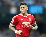 Marcos Rojo of Manchester United during the Barclays Premier League match at The Etihad Stadium. Photo credit should read: Simon Bellis/Sportimage