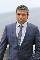 "COPY BY TOM BEDFORD<br /> Pictured: Kamrul Islam arrives at Merthyr Tydfil Crown Court, Wales, UK. Tuesday 06 February 2018<br /> Re: A trial of chef Kamrul Islam who attacked a client with chilli powder is due to start Merthyr Tydfil Crown Court.<br /> David Evans was at the Prince of Bengal restaurant on Saturday night when the incident took place.<br /> The 46-year-old was out for dinner with his wife Michelle when they were asked by a waiter if they were enjoying their curry.<br /> The couple said they told the waiter their meal was ""tough and rubbery"" and he passed the complaint onto the head chef.<br /> Michelle said chilli powder was then thrown into her husband's eyes and he was taken to hospital."