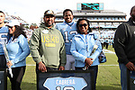 CHAPEL HILL, NC - NOVEMBER 18: UNC's Josh Cabrera was honored as part of Senior Day pregame activities. The University of North Carolina Tar Heels hosted the Western Carolina University Catamounts on November 18, 2017 at Kenan Memorial Stadium in Chapel Hill, NC in a Division I College Football game. UNC won the game 65-10.