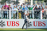Marcus Armitage of England tees off the first hole during the 58th UBS Hong Kong Golf Open as part of the European Tour on 10 December 2016, at the Hong Kong Golf Club, Fanling, Hong Kong, China. Photo by Marcio Rodrigo Machado / Power Sport Images