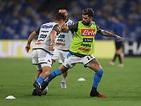 13th June 2020; Stadio San Paolo, Naples, Campania, Italy; Coppa Italia Football, Napoli versus Inter Milan; Elseid Hysaj of Napoli warms up