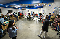 NWA Democrat-Gazette/BEN GOFF @NWABENGOFF<br /> Matt Taliaferro (right), Boys & Girls Club of Benton County CEO, speaks Thursday, June 6, 2019, during a grand opening for the new Teen Center across the street from the Boys & Girls Club in Rogers.