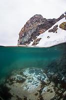 Antarctic Coastline above and below the water
