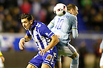 Deportivo Alaves' Zouhair Feddal (l) and Celta de Vigo's Iago Aspas during Spanish Kings Cup semifinal 2nd leg match. February 08,2017. (ALTERPHOTOS/Acero)