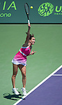 Jelena Jankovic (SRB),  loses to Maria Sharapova (RUS) 6-2, 6-1, at the Sony Open being played at Tennis Center at Crandon Park in Miami, Key Biscayne, Florida on March 28, 2013