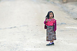 A girl in Tuixcajchis, a small Mam-speaking Maya village in Comitancillo, Guatemala.