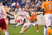 Dax McCarty (11) of the New York Red Bulls. The New York Red Bulls defeated the Houston Dynamo 1-0 during a Major League Soccer (MLS) match at Red Bull Arena in Harrison, NJ, on May 09, 2012.