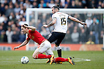 Bradley Johnson of Derby tackles Forest's Chris Cohen during the Skybet Championship match at the iPro Stadium. Photo credit should read: Philip Oldham/Sportimage