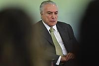 BRASÍLIA, DF, 29.06.2017 - TEMER-DF - O presidente Michel Temer durante Cerimônia de 1 ano da Lei de Responsabilidade das Estatais na manhã desta quinta-feira, 29, no Palácio do Planalto. (Foto: Ricardo Botelho/Brazil Photo Press)