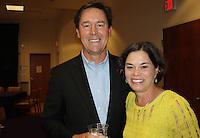 NWA Democrat-Gazette/CARIN SCHOPPMEYER Thad and Melanie Beck enjoy the Washington Regional Foundation reception Nov. 1.