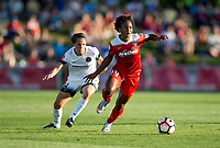 Boyds, MD. - Saturday, June 24 2017:  Ashleigh Sykes, Francisca Ordega during a regular season National Women's Soccer League (NWSL) match between the Washington Spirit and the Portland Thorns FC at Maureen Hendricks Field, Maryland SoccerPlex.<br />  The Washington Spirit defeated the Portland Thorns FC 1-0.