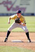 June 24, 2009:  Second Baseman Brock Holt of the State College Spikes during a game at Eastwood Field in Niles, OH.  The Spikes are the NY-Penn League Short-Season A affiliate of the Pittsburgh Pirates.  Photo by:  Mike Janes/Four Seam Images