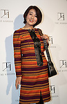 October 17, 2016, Tokyo, Japan - Japanese actress Kumiko Akiyoshi poses for photo call at Japanese designer Tae Ashida's spring and summer collection in Tokyo as a part of Japan Fashion Week on Monday, October 17, 2016. Tae Ashida celebrated her 25th anniversary collection.   (Photo by Yoshio Tsunoda/AFLO) LWX -ytd-
