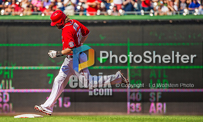 8 June 2013: Washington Nationals outfielder Jayson Werth rounds the bases after hitting a home run against the Minnesota Twins at Nationals Park in Washington, DC. The Twins edged out the Nationals 4-3 in 11 innings. Mandatory Credit: Ed Wolfstein Photo *** RAW (NEF) Image File Available ***