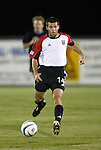 24 March 2004: Ben Olsen charges up the field with the ball during the first half. DC United of Major League Soccer defeated the Wilmington Hammerheads of the Pro Select League 1-0 at the Legion Sports Complex in Wilmington, NC in a Carolina Challenge Cup match..