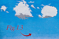 Urban Textures - Painted Wall, blue sky, clouds, Fig 1.3