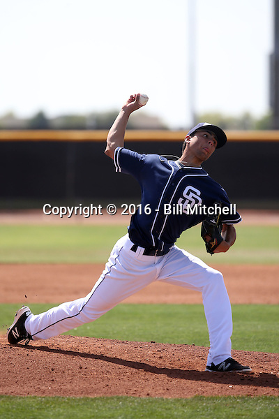 Jean Cosme - San Diego Padres 2016 spring training (Bill Mitchell)