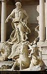 Oceanus Triton and Hippocamp Trevi Fountain Rome