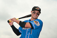 Akron RubberDucks infielder Tony Walters (1) prior to game against the Trenton Thunder at ARM & HAMMER Park on July 14, 2014 in Trenton, NJ.  Akron defeated Trenton 5-2.  (Tomasso DeRosa/Four Seam Images)