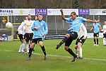 Sandhausen 05.12.2009, 3. Liga SV Sandhausen - FC Ingolstadt 04, Ausgleich zum 1:1 von Ingolstadts David Pisot rechts es schaut zu Ingolstadts Steven Ruprecht und die Sandhauser Abwehr<br /> <br /> Foto &copy; Rhein-Neckar-Picture *** Foto ist honorarpflichtig! *** Auf Anfrage in h&ouml;herer Qualit&auml;t/Aufl&ouml;sung. Ver&ouml;ffentlichung ausschliesslich f&uuml;r journalistisch-publizistische Zwecke. Belegexemplar erbeten.