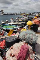 Fischereihafen von Golfo Aranci, Gallura, Provinz Olbia-Tempio, Nord Sardinien, Italien