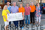 Members of Piea House Tralee who were presented with a cheque of €45,226 on Monday evening l-r;Marilyn O'Shea, Colin Ahern,Ciarán O'Brien,Ann O'Shea, Aidan O'Sullivan,Martin Brosnan and Stephanie Turner