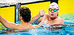 Lima, Peru -  26/August/2019 - Nicholas Bennett and Tyson MacDonald compete in the men's 200m freestyle S14 at the Parapan Am Games in Lima, Peru. Photo: Dave Holland/Canadian Paralympic Committee.