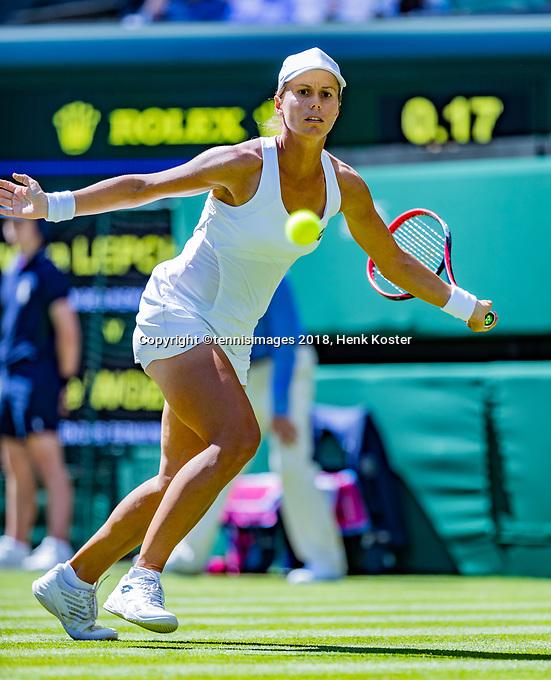 London, England, 2 th July, 2018, Tennis,  Wimbledon, Varvara Lepchenko (USA)<br /> Photo: Henk Koster/tennisimages.com