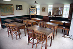 Edwardian school classroom, Museum of East Anglian Life, Stowmarket, Suffolk