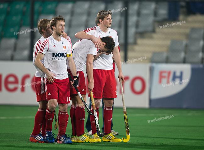 Mens Hockey World league Final Delhi 2014<br /> Day 5, 17-01-2014<br /> England v New Zealand<br /> Harry Martin <br /> <br /> Photo: Grant Treeby / treebyimages