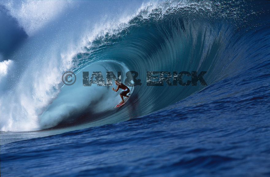 Shane Dorian at Teahupoo in Tahiti