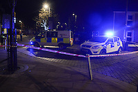 Wednesday 11 January 2017<br /> Police have cordoned off Herbert Street in the Pontardawe area of Swansea following a call received around 7.30pm that what is believed to be a World War one explosive device had been found at that location.<br /> The device has been isolated and a number of local residents evacuated from their homes as a precautionary measure.<br /> Explosive Ordnance Disposal will be in attendance to make the device safe.