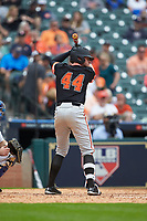 Jack Rogers (44) of the Sam Houston State Bearkats at bat against the Kentucky Wildcats during game four of the 2018 Shriners Hospitals for Children College Classic at Minute Maid Park on March 3, 2018 in Houston, Texas. The Wildcats defeated the Bearkats 7-2.  (Brian Westerholt/Four Seam Images)