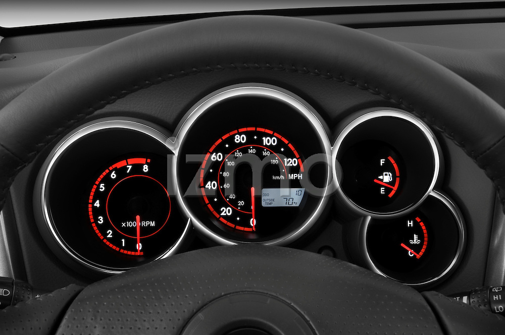 Instrument panel close up detail view of a 2008 Toyota Matrix wagon