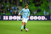 3rd November 2017, Melbourne Rectangular Stadium, Melbourne, Australia; A-League football, Melbourne City FC versus Sydney FC; Nick Fitzgerald of Melbourne City FC runs with the ball