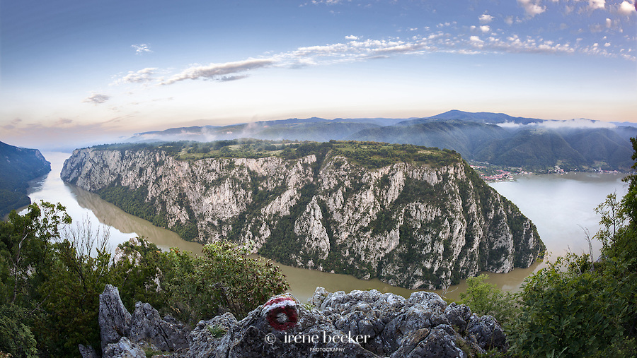 Danube - Iron Gates/Djerdap gorge.  Border between Romania and Serbia.