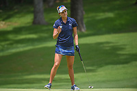 Lexi Thompson (USA) sinks her birdie putt on 10 during round 2 of the U.S. Women's Open Championship, Shoal Creek Country Club, at Birmingham, Alabama, USA. 6/1/2018.<br /> Picture: Golffile | Ken Murray<br /> <br /> All photo usage must carry mandatory copyright credit (&copy; Golffile | Ken Murray)