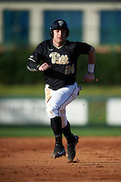 Pittsburgh Panthers shortstop David Yanni (24) running the bases during a game against the Siena Saints on February 24, 2017 at Historic Dodgertown in Vero Beach, Florida.  Pittsburgh defeated Siena 8-2.  (Mike Janes/Four Seam Images)
