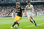 Antoine Griezmann (l) of Atletico de Madrid is followed by Marco Asensio Willemsen of Real Madrid during their 2016-17 UEFA Champions League Semifinals 1st leg match between Real Madrid and Atletico de Madrid at the Estadio Santiago Bernabeu on 02 May 2017 in Madrid, Spain. Photo by Diego Gonzalez Souto / Power Sport Images