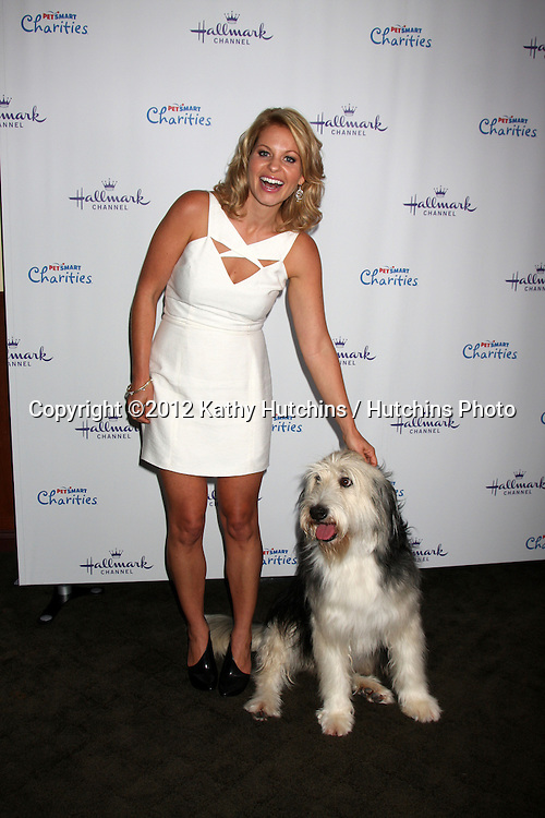 """LOS ANGELES - SEP 6:  Candance Cameron Bure, Bug Z arrives at the Hallmark Channel """"PUPPY LOVE'"""" Private Reception at La Piazza at The Grove on September 6, 2012 in Los Angeles, CA"""