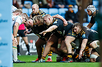 5th January 2020; Ricoh Arena, Coventry, West Midlands, England; English Premiership Rugby, Wasps versus Northampton Saints; Wasps scrum get ready to engage - Editorial Use