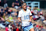 27 February 2016: North Carolina's Sydney Holman. The University of North Carolina Tar Heels hosted the University of Maryland Terrapins in a 2016 NCAA Division I Women's Lacrosse match. Maryland won the game 8-7.