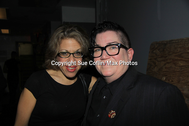 "One Life To Live actresses Lea DeLaria ""Madame Delphina"" and OLTL Jackie Hoffman ""Eunice Burns"" and ATWT ""Miranda"" perform on stage at Joe's Pub, New York City, New York on January 13, 2013. (Photo by Sue Coflin/Max Photos)"