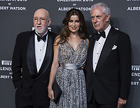 "Marco Tronchetti Provera (Pirelli's President), Laetitia Casta, Albert Watson attend the gala night for official presentation of the Presentation of the Pirelli Calendar 2019 ""The cal"" held at the Hangar Bicocca. Milan (Italy) on december 5, 2018. Credit: Action Press/MediaPunch ***FOR USA ONLY***"
