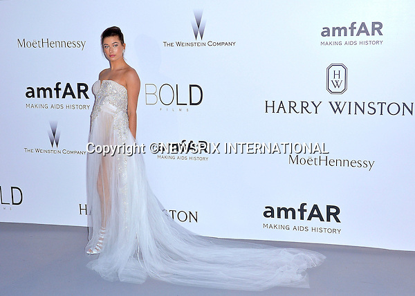 12.05.2015, Antibes; France: HAILEY BALDWIN<br /> attends the Cinema Against AIDS amfAR gala 2015 held at the Hotel du Cap, Eden Roc in Cap d'Antibes.<br /> MANDATORY PHOTO CREDIT: &copy;Thibault Daliphard/NEWSPIX INTERNATIONAL<br /> <br /> (Failure to credit will incur a surcharge of 100% of reproduction fees)<br /> <br /> **ALL FEES PAYABLE TO: &quot;NEWSPIX  INTERNATIONAL&quot;**<br /> <br /> Newspix International, 31 Chinnery Hill, Bishop's Stortford, ENGLAND CM23 3PS<br /> Tel:+441279 324672<br /> Fax: +441279656877<br /> Mobile:  07775681153<br /> e-mail: info@newspixinternational.co.uk