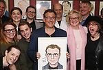 Michael Grief with his Broadway friends attend the Michael Grief Sardi's Portrait Unveiling at Sardi's on 4/27/2017 in New York City.