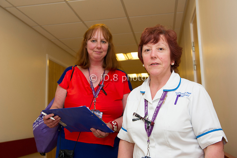 Liz Mawson, Unison Branch Lead Officer, on her rounds to chat to members and recruit new staff.