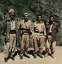 Iraq 1979.At the border of Iran, from left to right Aref Taifour, Johar Namek, Sami Abdul Rahman and Failak Eddine Kakai  Irak 1979. Sur la frontiere iranienne, de gauche a droite, Aref Taifour, Johar Namek, Sami Abdul Rahman et Failak Eddine Kakai