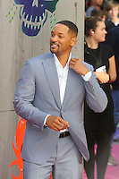 LONDON, ENGLAND - AUGUST 3: Will Smith attending the 'Suicide Squad' European Premiere at Odeon Cinema, Leicester Square on August 3, 2016 in London, England.<br /> CAP/MAR<br /> &copy;MAR/Capital Pictures /MediaPunch ***NORTH AND SOUTH AMERICAS ONLY***